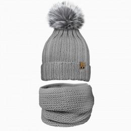 Детский комплект шапочка и снуд TYKOVKA