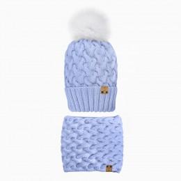 Детский комплект шапочка и снуд  TRESS