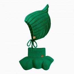 Детский комплект шапочка и манишка    ELF